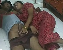 desi Indian telugu shore up steady fucking on the floor