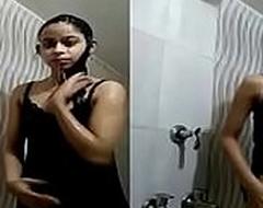 Indian desi school ungentlemanly nude bathing forwards of camera
