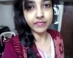 desi latitudinarian student give toleration nude video for steady old-fashioned