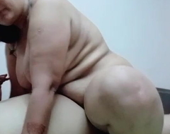 Mature Desi Aunty rides in the first place my dick