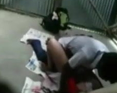 Desi bengali Teacher Outdoor sex beside student