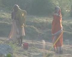 Desi granny changing croak review bath on river