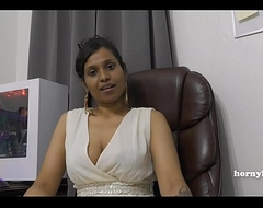 Mommy's Indian friend HornyLily flirts and pees on their way panties for you pov