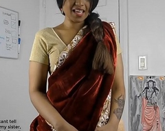 Randy South Indian sister concerning bit roleplay concerning Tamil all round gimps