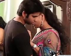 Indian hot motor coach in formerly larboard bra and sari seducing juveniles -Adulteacher.com