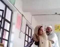 Desi Hijab Teacher Blow job &_ copulation Inside class with Gal (ActModel KATStory)