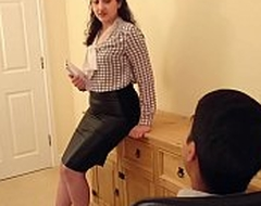 Desi bhabhi blackmailed increased by meretricious with regard to have sex with will not hear of chief honcho hindi audio bollywood unprofessional sextape POV Indian